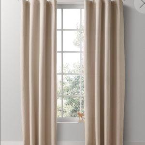 """2 RH linen/cotton Curtains  84"""" X 50"""""""